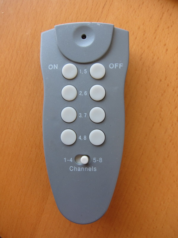 RC mains switch remote