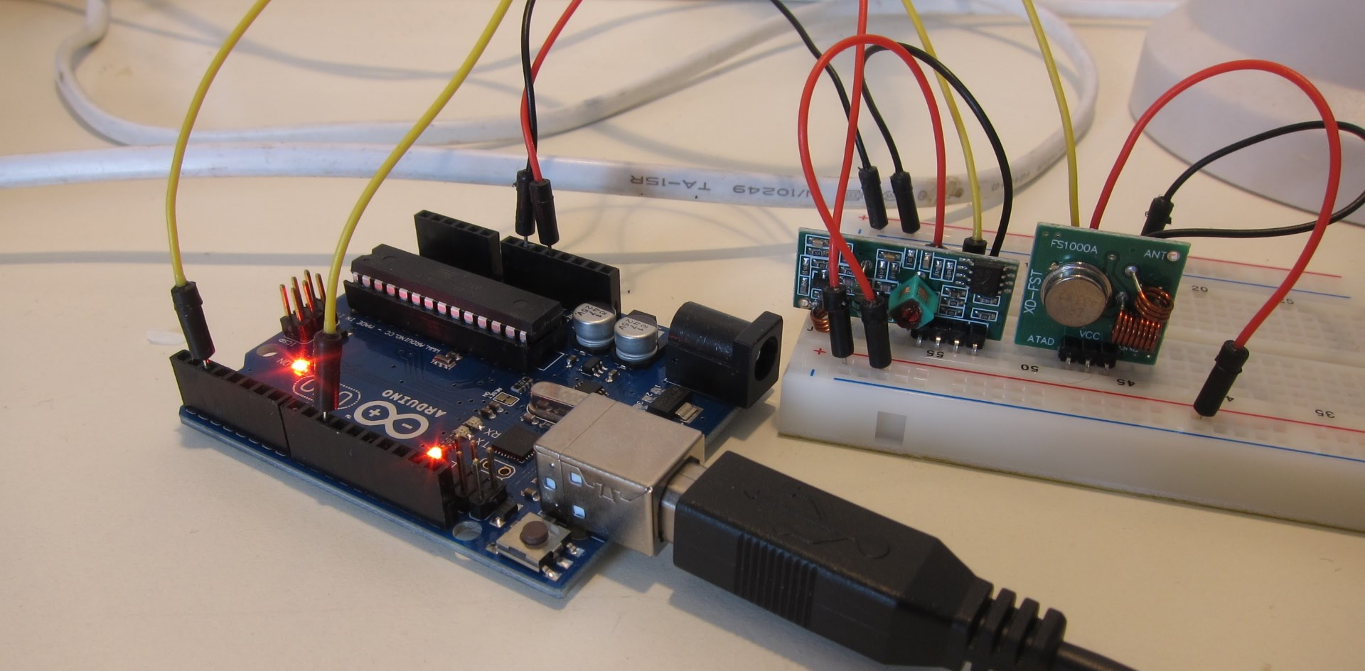 Decoding and sending 433MHz RF codes with Arduino and rc-switch